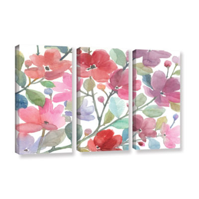Brushstone The Colors Of Spring 3-pc. Gallery Wrapped Canvas Wall Art