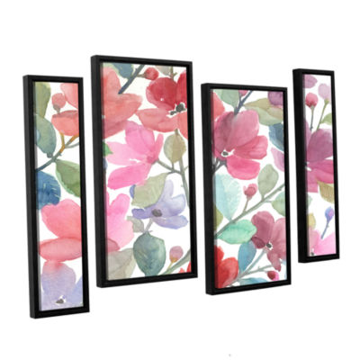 Brushstone The Colors Of Spring 4-pc. Floater Framed Staggered Canvas Wall Art