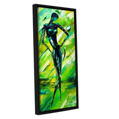 Brushstone Vixen 2 Gallery Wrapped Floater-FramedCanvas Wall Art