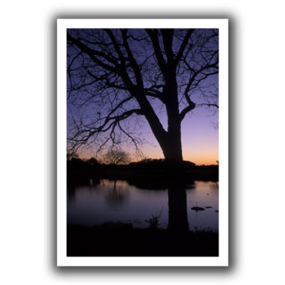 Brushstone Texas Sunset On The Lake Canvas Wall Art
