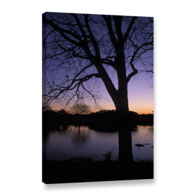 Brushstone Texas Sunset On The Lake Gallery Wrapped Canvas Wall Art