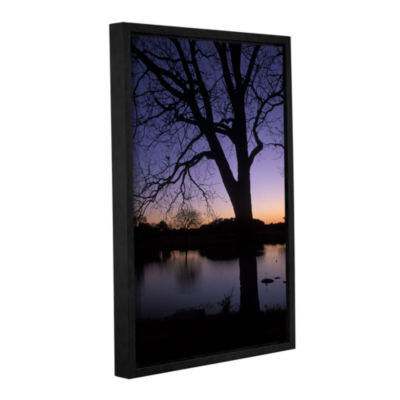 Brushstone Texas Sunset On The Lake Gallery Wrapped Floater-Framed Canvas Wall Art