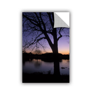 Brushstone Texas Sunset On The Lake Removable WallDecal