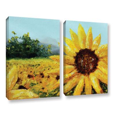 Brushstone Warmth Of The Sun 2-pc. Gallery WrappedCanvas Set