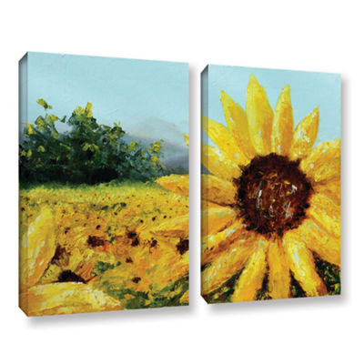 Brushstone Warmth Of The Sun 2-pc. Gallery WrappedCanvas Wall Art