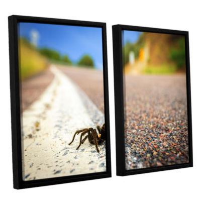 Brushstone Tarantula 2-pc. Floater Framed Canvas Wall Art