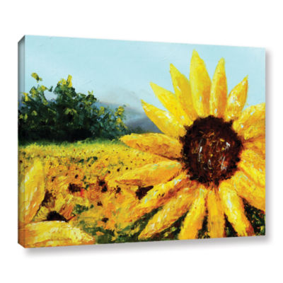 Brushstone Warmth Of The Sun Gallery Wrapped Canvas