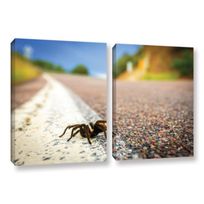 Brushstone Tarantula 2-pc. Gallery Wrapped CanvasWall Art