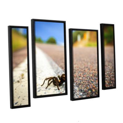 Brushstone Tarantula 4-pc. Floater Framed Staggered Canvas Wall Art