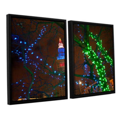 Brushstone Terminal Tower 2-pc. Floater Framed Canvas Wall Art