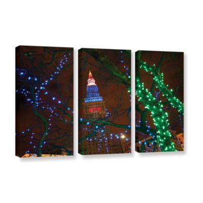 Brushstone Terminal Tower 3-pc. Gallery Wrapped Canvas Wall Art