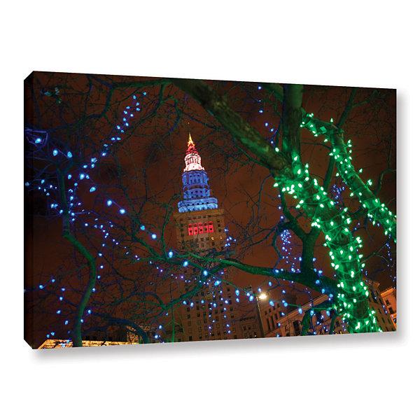 Brushstone Terminal Tower Gallery Wrapped Canvas Wall Art
