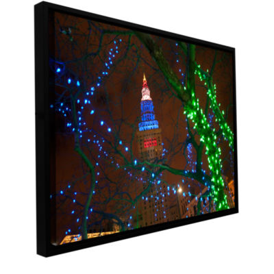 Brushstone Terminal Tower Gallery Wrapped Floater-Framed Canvas Wall Art