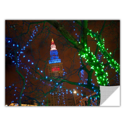 Brushstone Terminal Tower Removable Wall Decal