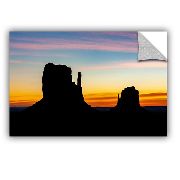 Brushstone Sunrise Over Monument Valley Mittens Removable Wall Decal