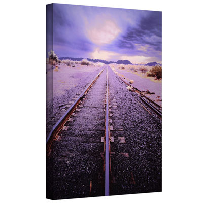 Brushstone Vanishing Point Arizona Gallery WrappedCanvas Wall Art