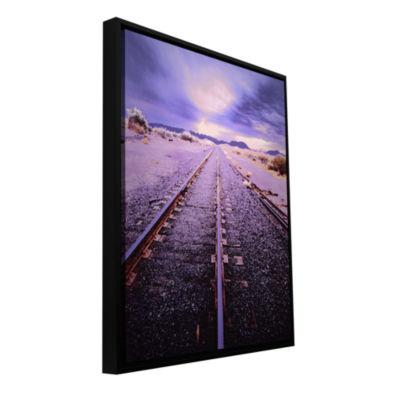 Brushstone Vanishing Point Arizona Gallery WrappedFloater-Framed Canvas