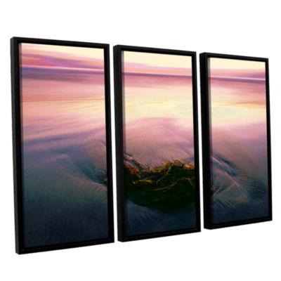 Brushstone Twilight Kelp 3-pc. Floater Framed Canvas Art