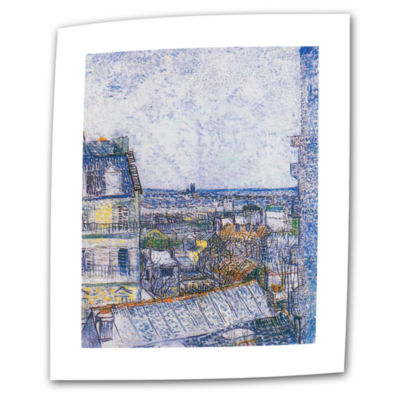 Brushstone Wall Paris From Vincent's Room Canvas Wall Art