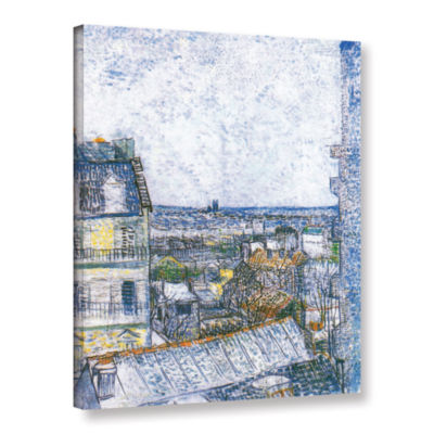 Brushstone Wall Paris From Vincent's Room GalleryWrapped Canvas