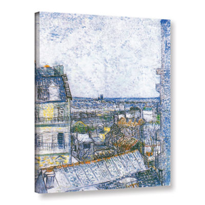 Brushstone Wall Paris From Vincent's Room GalleryWrapped Canvas Wall Art