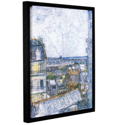 Brushstone Wall Paris From Vincent's Room GalleryWrapped Floater-Framed Canvas Wall Art