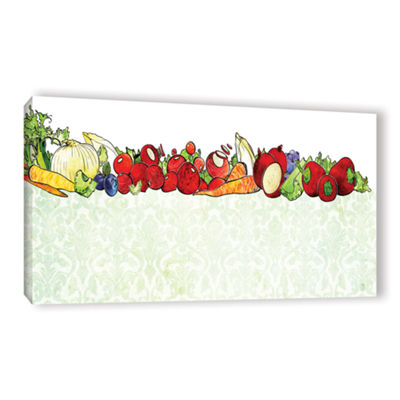 Brushstone Vegetable Medley Gallery Wrapped Canvas