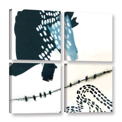 Brushstone Wander 4-pc. Gallery Wrapped Canvas Square Set