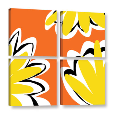 Brushstone Warmth 4-pc. Gallery Wrapped Canvas Square Set