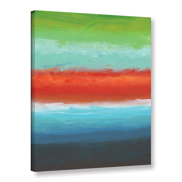 Brushstone Vibrant Horizon I Gallery Wrapped Canvas Wall Art