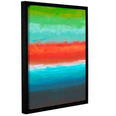 Brushstone Vibrant Horizon I Gallery Wrapped Floater-Framed Canvas