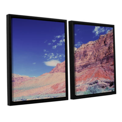 Brushstone Utah-Paria Canyon 2-pc. Floater FramedCanvas Wall Art