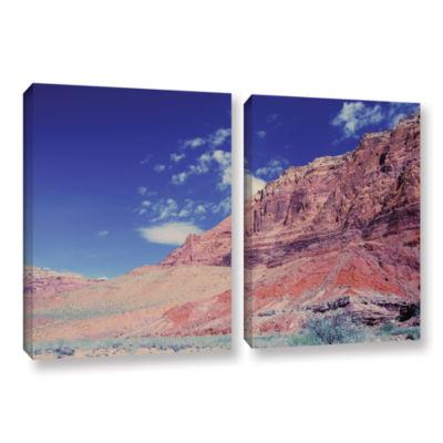 Brushstone Utah-Paria Canyon 2-pc. Gallery WrappedCanvas Wall Art
