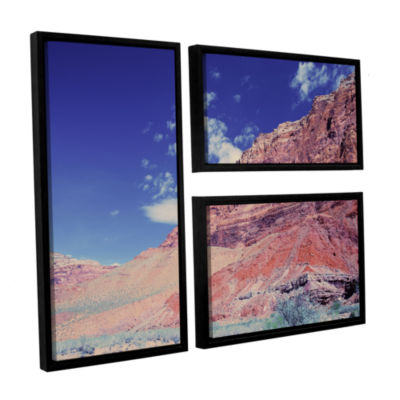 Brushstone Utah-Paria Canyon 3-pc. Floater FramedCanvas Flag Set