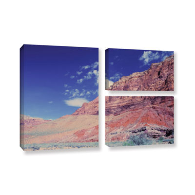 Brushstone Utah-Paria Canyon 3-pc. Flag Gallery Wrapped Canvas Art