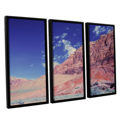 Brushstone Utah-Paria Canyon 3-pc. Floater Framed Canvas Art