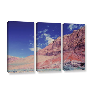 Brushstone Utah-Paria Canyon 3-pc. Gallery Wrapped Canvas Set