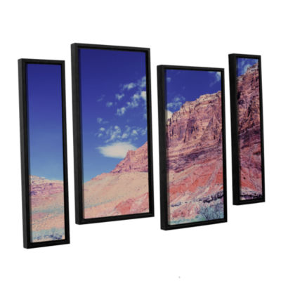 Brushstone Utah-Paria Canyon 4-pc. Floater FramedCanvas Staggered Set