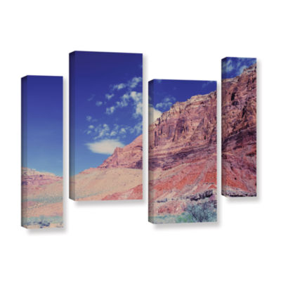 Brushstone Utah-Paria Canyon 4-pc. Gallery WrappedCanvas Staggered Set
