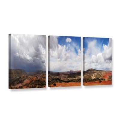 Brushstone Utah Stormy Panorama 3-pc. Gallery Wrapped Canvas Set