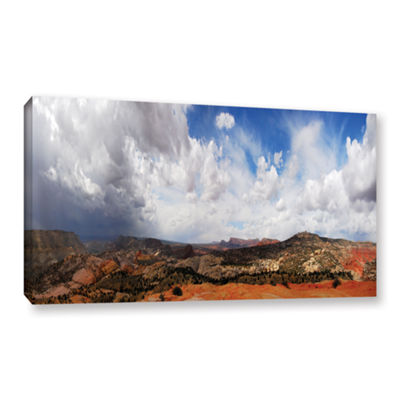 Brushstone Utah Stormy Panorama Gallery Wrapped Canvas Wall Art