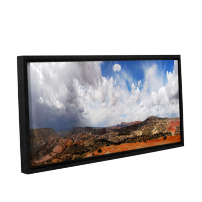 Brushstone Utah Stormy Panorama Gallery Wrapped Floater-Framed Canvas