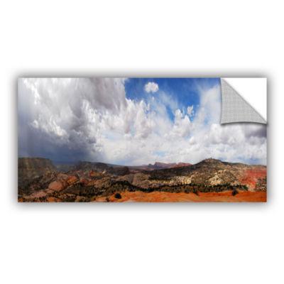 Brushstone Utah Stormy Panorama Removable Wall Decal
