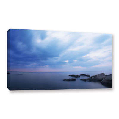 Brushstone Water and Rocks Gallery Wrapped Canvas