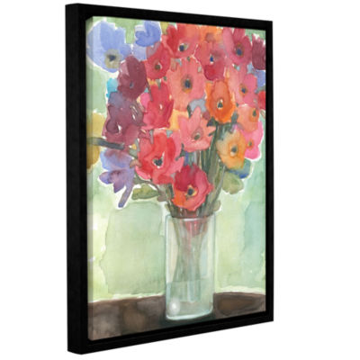 Brushstone Vibrance Gallery Wrapped Floater-FramedCanvas