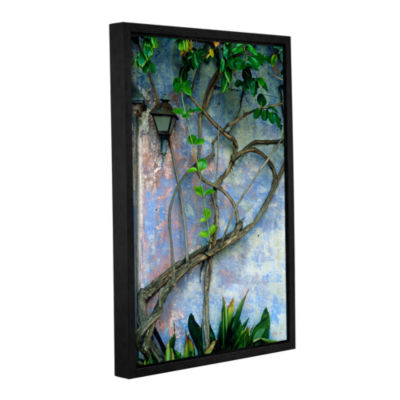 Brushstone Vine And Wall Gallery Wrapped Floater-Framed Canvas Wall Art