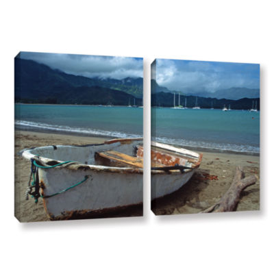 Brushstone Waiting to Row in Hanalei Bay 2-pc. Gallery Wrapped Canvas Set
