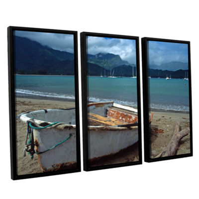 Brushstone Waiting to Row in Hanalei Bay 3-pc. Floater Framed Canvas Set