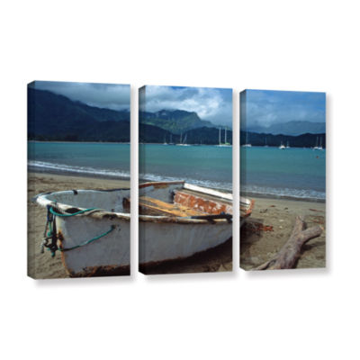 Brushstone Waiting to Row in Hanalei Bay 3-pc. Gallery Wrapped Canvas Set