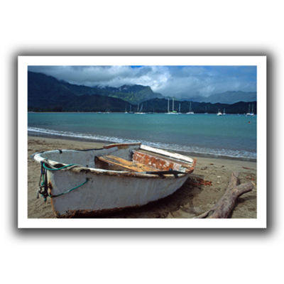 Brushstone Waiting To Row In Hanalei Bay Canvas Wall Art